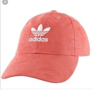 NWOT Coral Suede Adidas Hat
